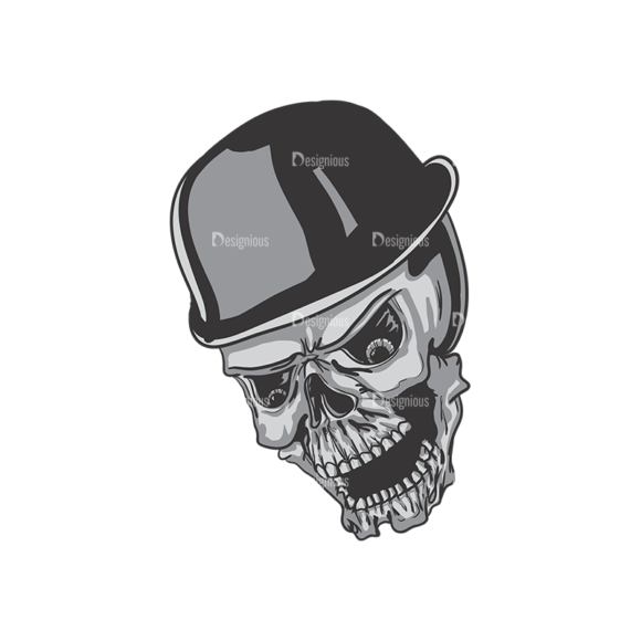 Skull Vector Clipart 3-9 skulls pack 3 9 preview