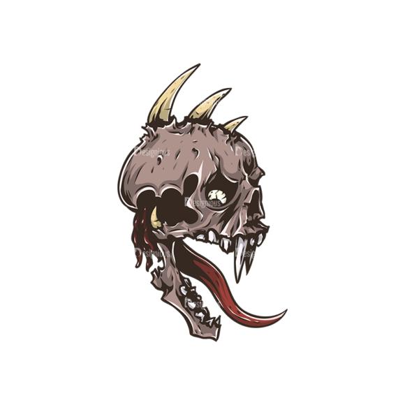 Skull Vector Clipart 30-4 skulls pack 30 4 preview
