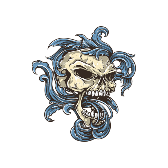 Skull Vector Clipart 30-5 skulls pack 30 5 preview
