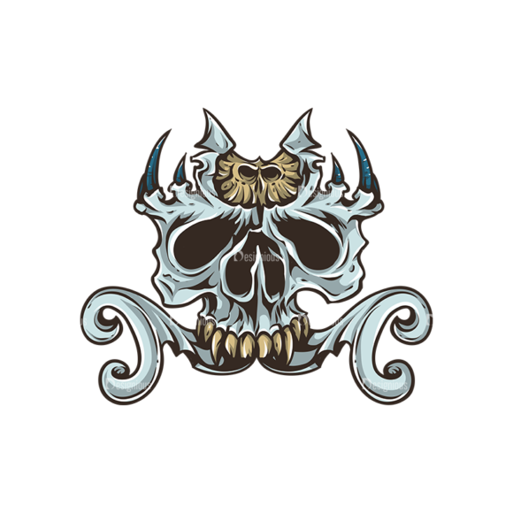 Skull Vector Clipart 30-6 skulls pack 30 6 preview