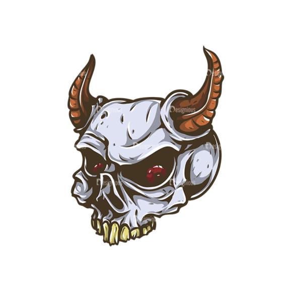 Skull Vector Clipart 31-2 Clip Art - SVG & PNG vector