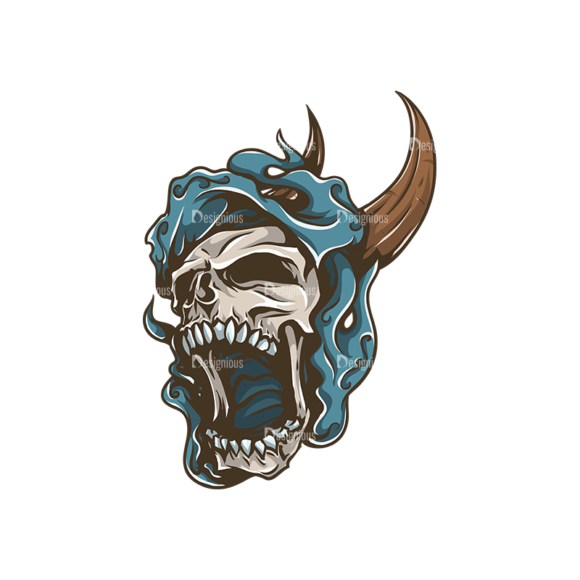 Skull Vector Clipart 31-4 skulls pack 31 4 preview