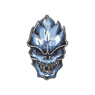 Skull Vector Clipart 34-4 Clip Art - SVG & PNG vector