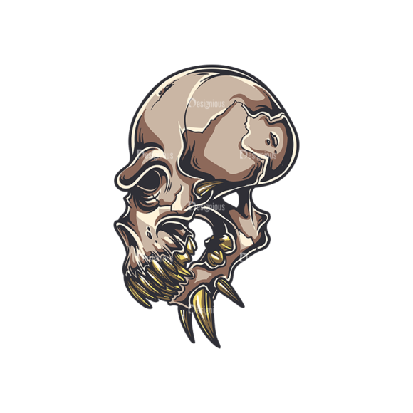 Skull Vector Clipart 34-5 skulls pack 34 5 preview