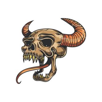 Skull Vector Clipart 35-5 Clip Art - SVG & PNG vector