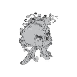 Skull Vector Clipart 4-1 Clip Art - SVG & PNG vector