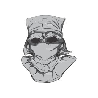 Skull Vector Clipart 4-2 Clip Art - SVG & PNG vector