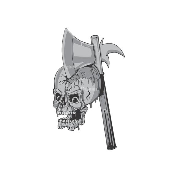 Skull Vector Clipart 4-5 Clip Art - SVG & PNG vector