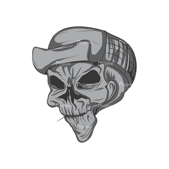 Skull Vector Clipart 4-6 skulls pack 4 6 preview