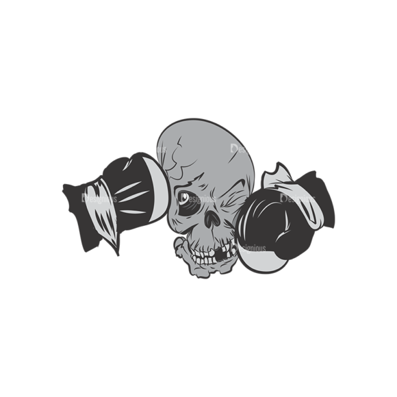 Skull Vector Clipart 4-7 skulls pack 4 7 preview