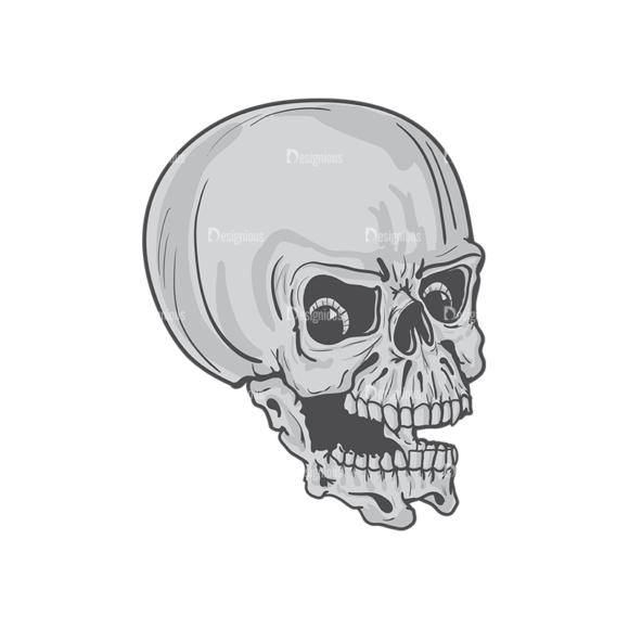 Skull Vector Clipart 4-8 skulls pack 4 8 preview