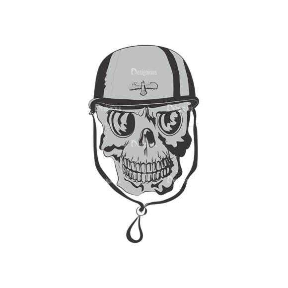 Skull Vector Clipart 4-9 skulls pack 4 9 preview