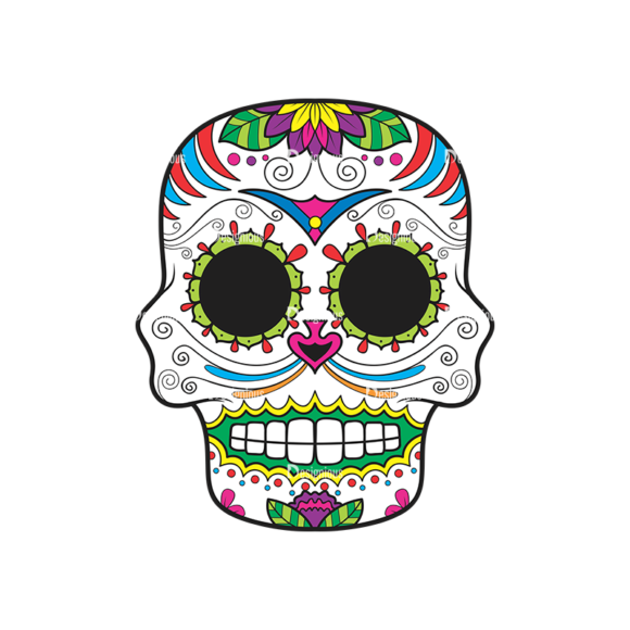 Skull Vector Clipart 41-4 Clip Art - SVG & PNG vector
