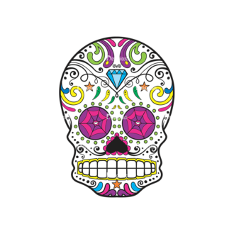 Skull Vector Clipart 43-1 Clip Art - SVG & PNG vector