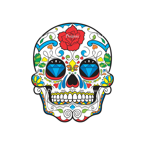Skull Vector Clipart 44-1 skulls pack 44 1 preview