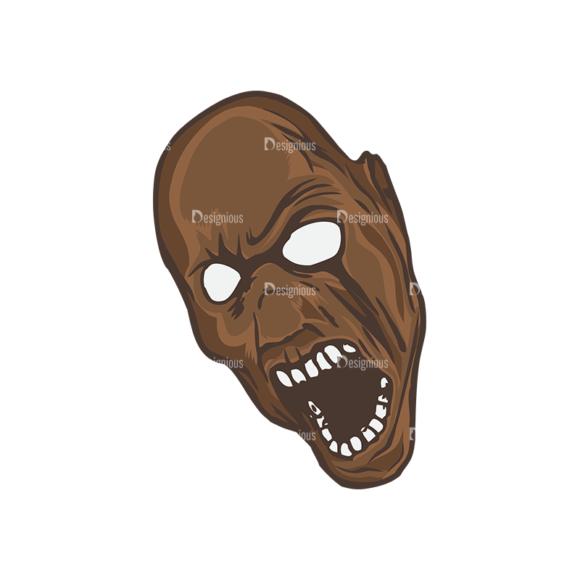 Skull Vector Clipart 5-8 skulls pack 5 8 preview