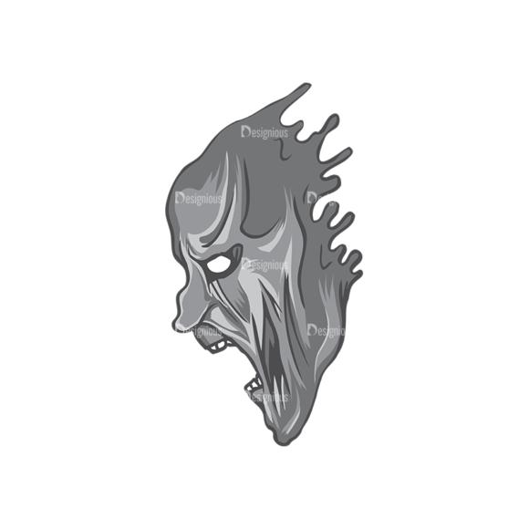 Skull Vector Clipart 5-9 skulls pack 5 9 preview