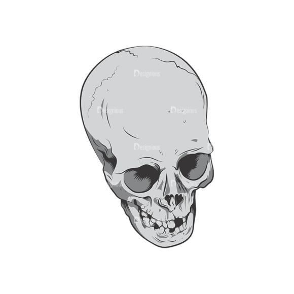 Skull Vector Clipart 6-10 skulls pack 6 10 preview
