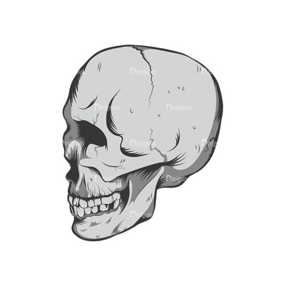 Skull Vector Clipart 6-2 skulls pack 6 2 preview