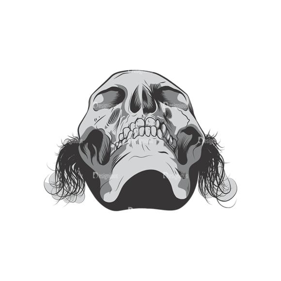 Skull Vector Clipart 6-3 skulls pack 6 3 preview
