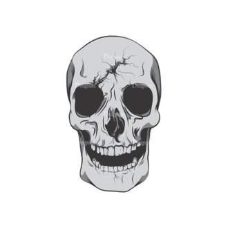 Skull Vector Clipart 6-5 Clip Art - SVG & PNG vector