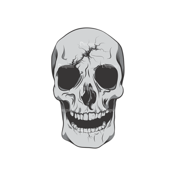 Skull Vector Clipart 6-5 skulls pack 6 5 preview