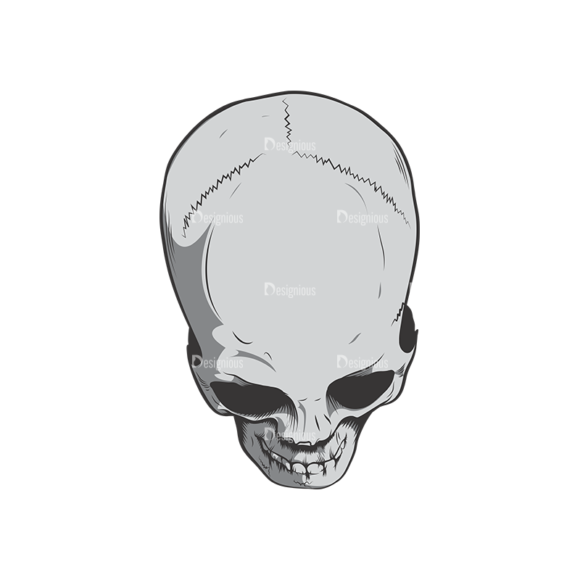 Skull Vector Clipart 6-7 skulls pack 6 7 preview