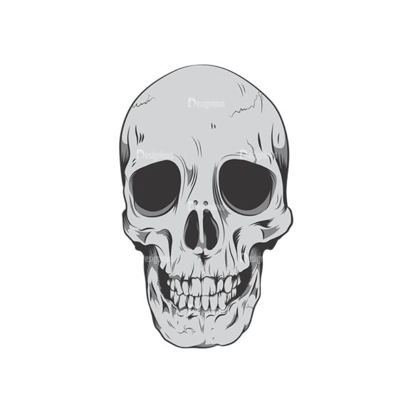 Skull Vector Clipart 6-9 skulls pack 6 9 preview