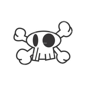 Skull Vector Clipart 7-1 Clip Art - SVG & PNG vector