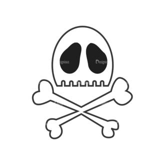Skull Vector Clipart 7-25 Clip Art - SVG & PNG vector