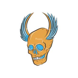 Skull Vector Clipart 8-9 Clip Art - SVG & PNG vector