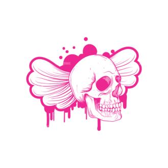 Skull Vector Clipart 9-5 Clip Art - SVG & PNG vector