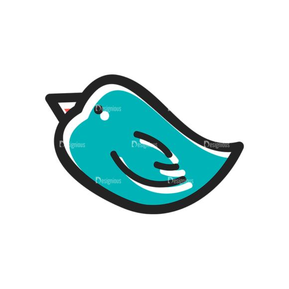 Social Media Doodle Vector Set 5 Vector Bird Clip Art - SVG & PNG vector