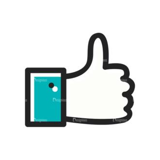 Social Media Doodle Vector Set 5 Vector Like Clip Art - SVG & PNG vector