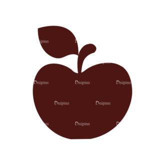 Stationary Vector Elements Set 1 Vector Apple Clip Art - SVG & PNG vector