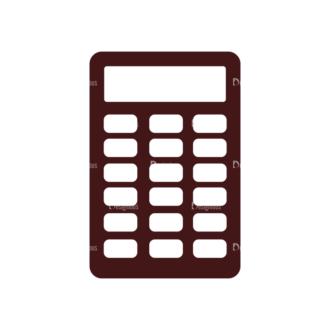 Stationary Vector Elements Set 1 Vector Calculator Clip Art - SVG & PNG vector