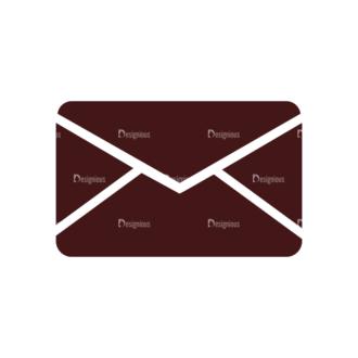 Stationary Vector Elements Set 1 Vector Envelop Clip Art - SVG & PNG vector