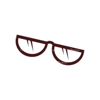 Stationary Vector Elements Set 1 Vector Eyeglass Clip Art - SVG & PNG vector