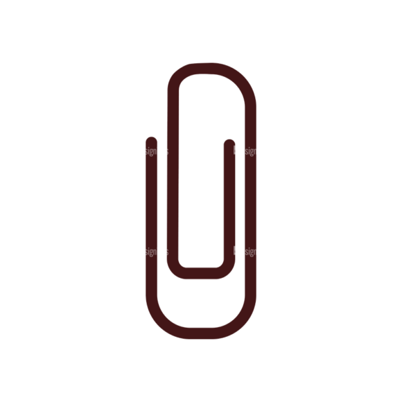 Stationary Vector Elements Set 1 Vector Paperclip Clip Art - SVG & PNG vector