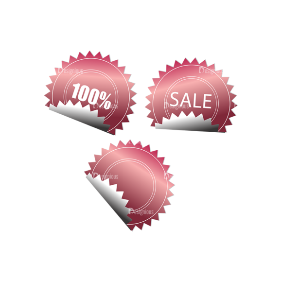 Stickers Vector 1 4 Clip Art - SVG & PNG vector
