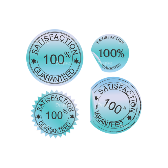 Stickers Vector 1 7 Clip Art - SVG & PNG vector