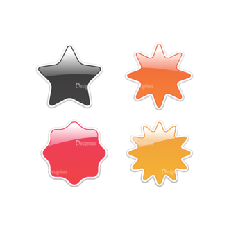 Stickers Vector 5 5 Clip Art - SVG & PNG vector