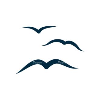 Surf Vector Set 1 Vector Birds Clip Art - SVG & PNG vector