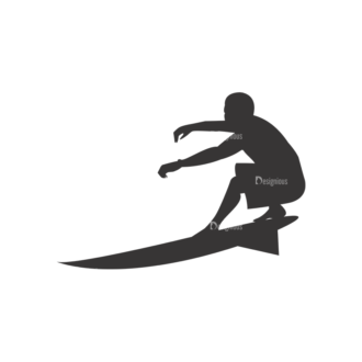 Surfer Silhouettes Pack 1 1 Preview Clip Art - SVG & PNG vector