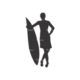 Surfer Silhouettes Pack 1 10 Preview Clip Art - SVG & PNG vector