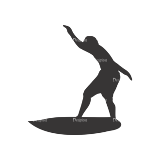 Surfer Silhouettes Pack 1 11 Preview Clip Art - SVG & PNG vector