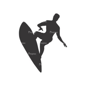 Surfer Silhouettes Pack 1 12 Preview Clip Art - SVG & PNG vector