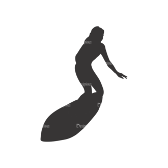 Surfer Silhouettes Pack 1 13 Preview Clip Art - SVG & PNG vector
