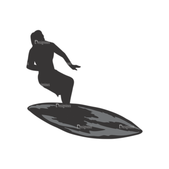 Surfer Silhouettes Pack 1 14 Preview Clip Art - SVG & PNG vector