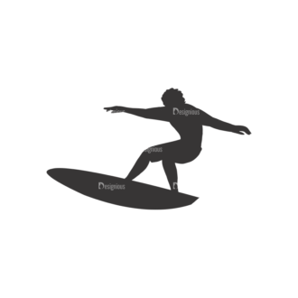 Surfer Silhouettes Pack 1 2 Preview Clip Art - SVG & PNG vector